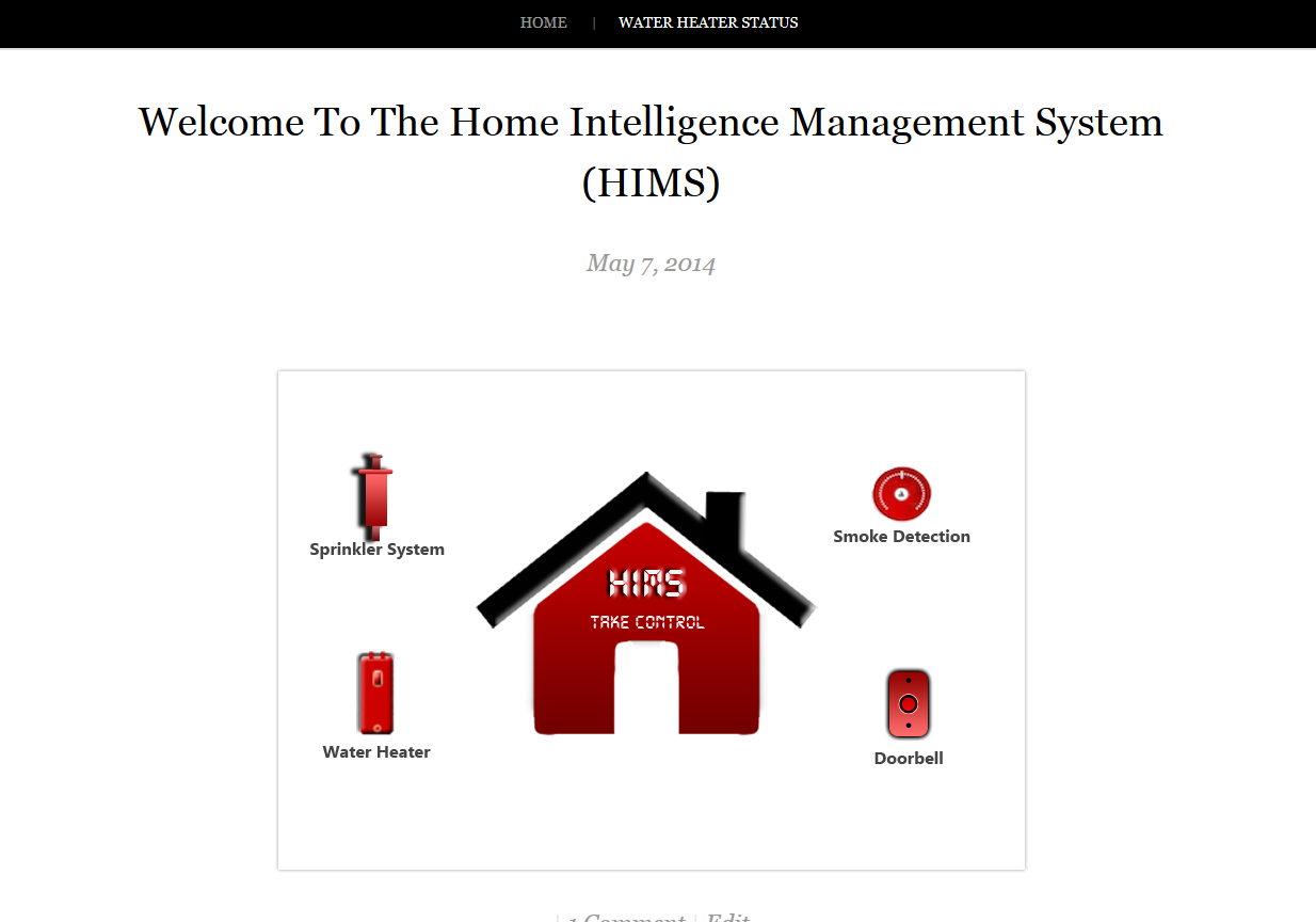 Tinker Labz - Home Intelligence Management System (HIMS) Homepage